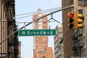 Broadway in NY street sign