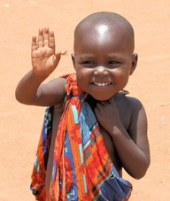 africa child waving