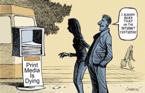 print media is dying