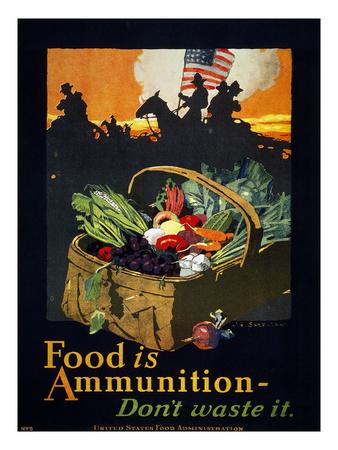 food is ammunition dont waste