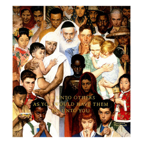 Image result for norman rockwell do unto others
