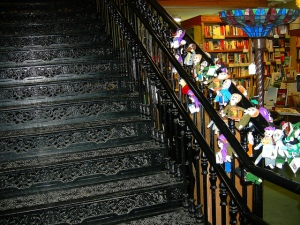 northshire bookstore stairs