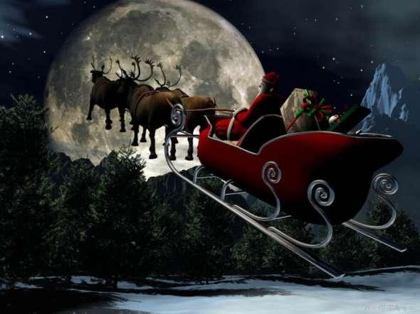 Christmas-santa-moon