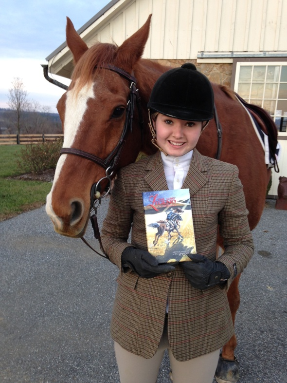 Maggie with Jo Hardesty Lauters Book