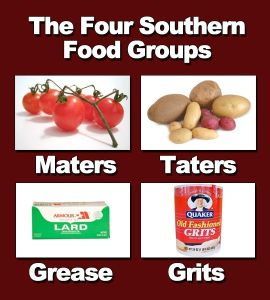 4 southern food groups