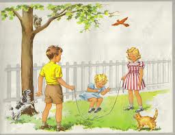 dick and jane jumping rope