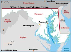 Life below the Mason Dixon Line