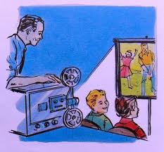 old movie projector from 1950s. jpg
