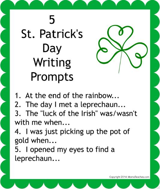 Prompts Patricks Writing St