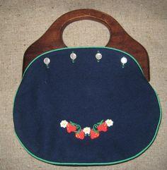 wooden handled purses