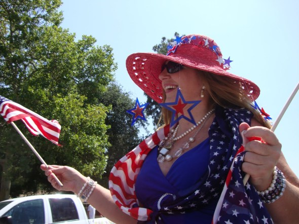 4th of july lady