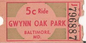 Gwynn oak park ticket