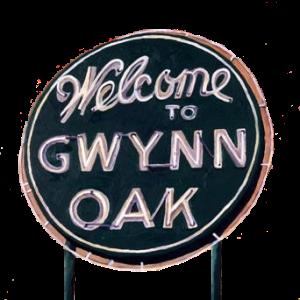 gwynnoakparksign