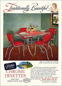 chrome dinettes