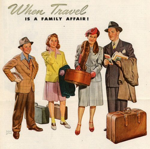 family-travel-vintage-retro-poster