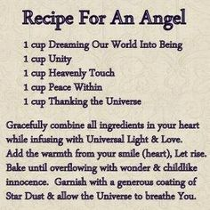 Recipe for an angel