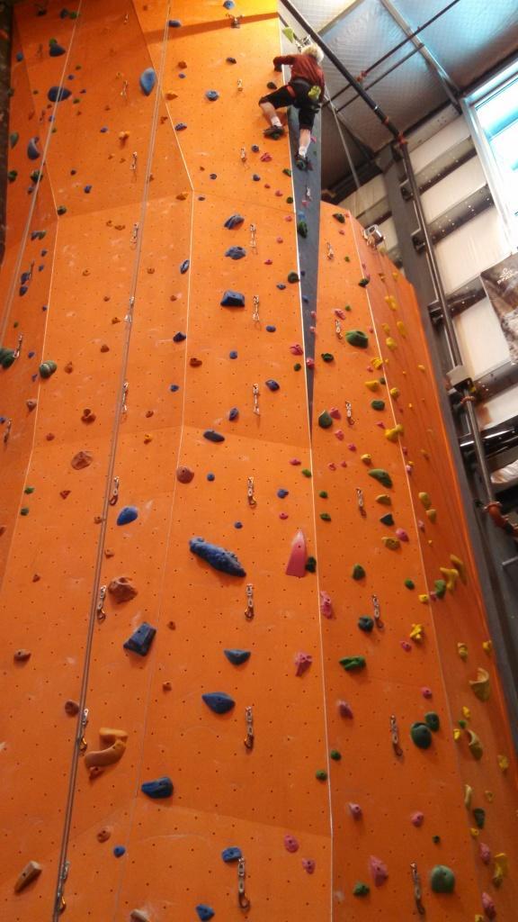 terry rock climbing