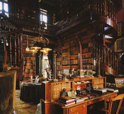 El escriba y el sabio (corvinus) Old-world-library