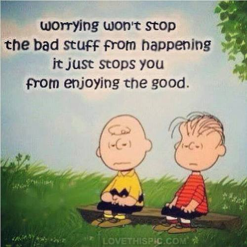 Charley Brown on worrying
