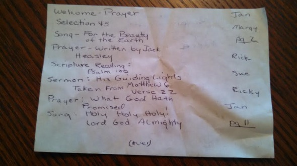 church service we wrote for around the pool page1 - right position