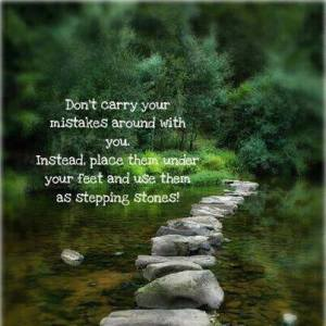 mistakes as stepping stones
