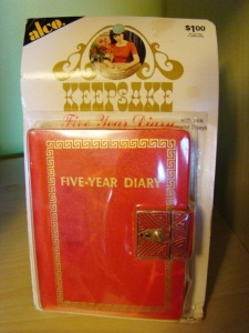 diary with key
