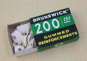 gummed reinforcement rings for notebook paper