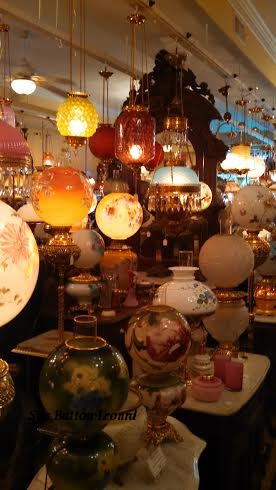 antique globes lights signed