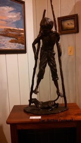 boy on stilts signed