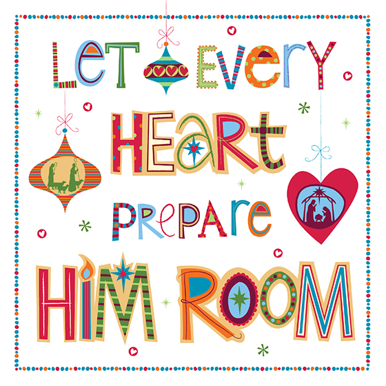 Christmas sign off image prepare him room