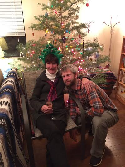 Marc & me xmas 2015 at his place