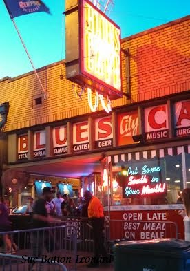 blues cafe signed