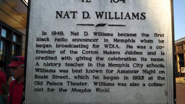 nat d williams first black radio announ