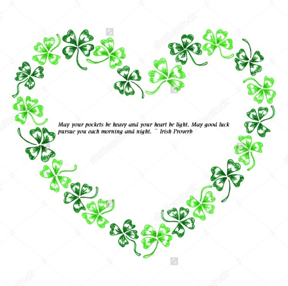 free st pattys day stationary with quote