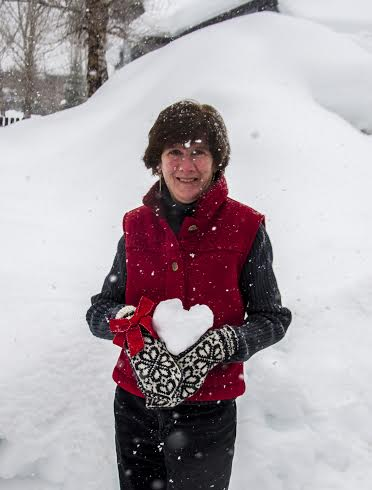 Sue with snowball heart